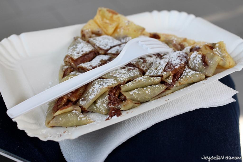 Nutella Crepe at Gelateria Luca in Riccione