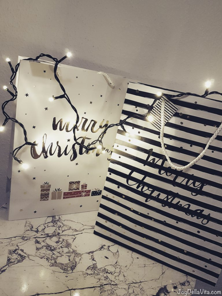 Christmas Bags Lights Christmas Presents Lifestyle JoyDellaVita