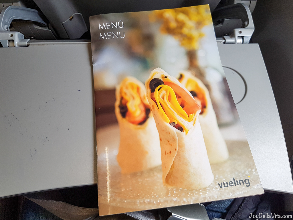 Vueling On Board Prices Pricelist Food Drinks JoyDellaVita