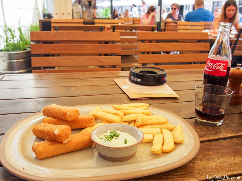 Fried Cheese Tartar Sauce Bratislava Venturska Klubovna - JoyDellaVita.com