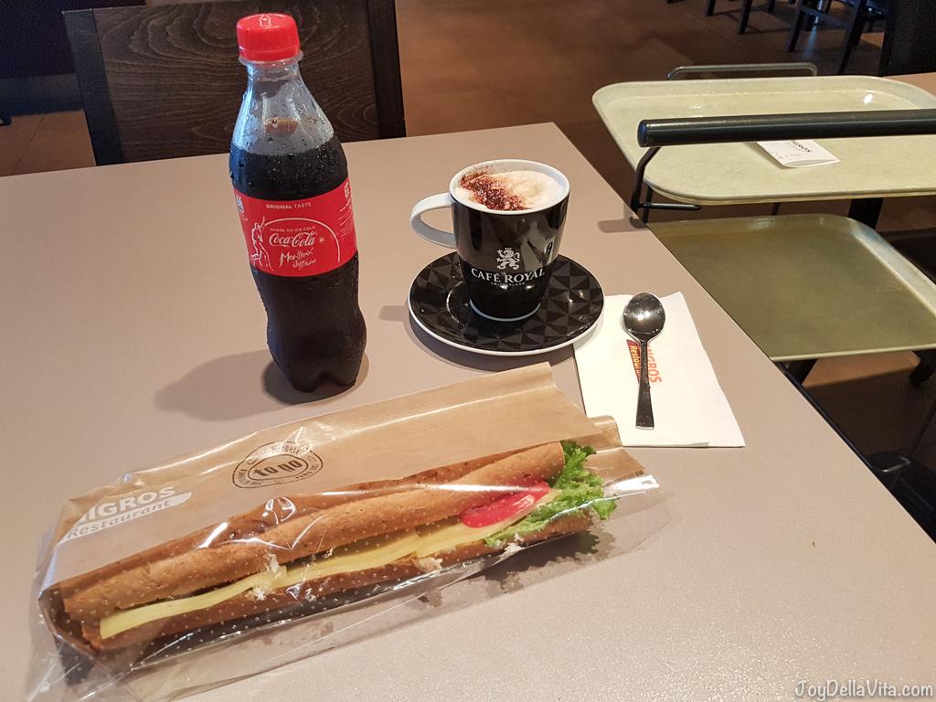 Breakfast at Migros Restaurant in Switzerland