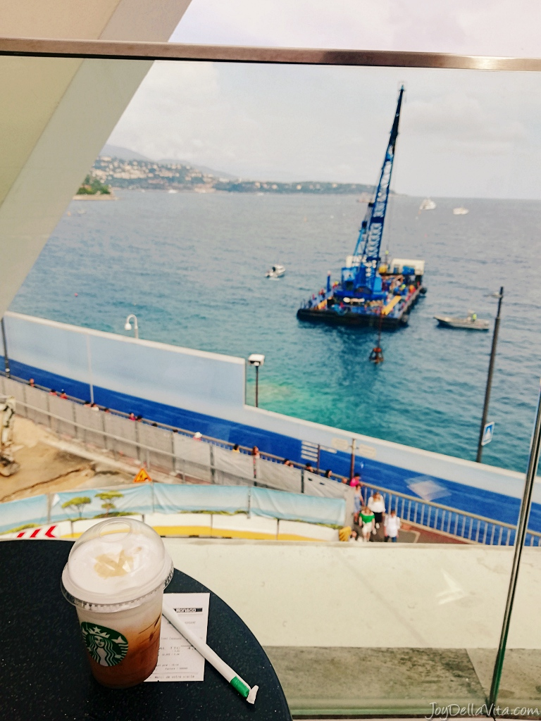 Starbucks with the best view in Monaco – Starbucks at famous Fairmont Hotel