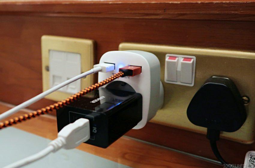 USB UK Travel Adapter amazon