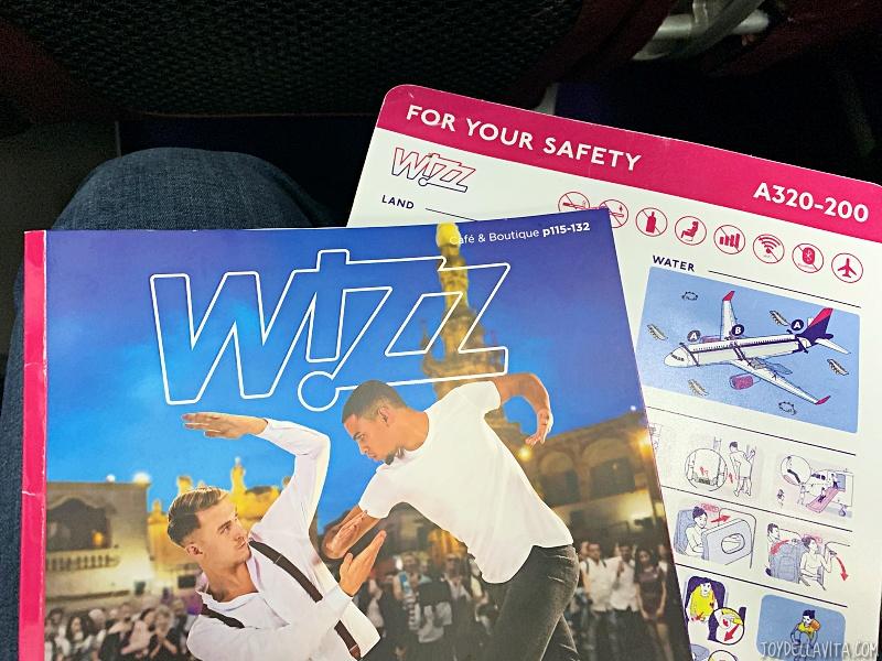 Wizz Cafe onboard snack drink