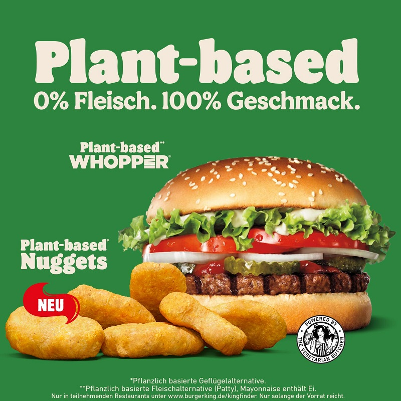 New: Plant Based Nuggets – Burger King Germany expands its meat-free range