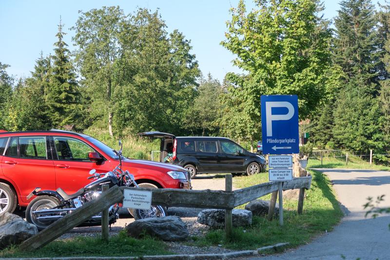 Parking at Moosegg Pfaender Mountain near Bregenz – for car / motorbike