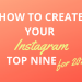 How to: Instagram TOP NINE 2020 for free without an email address