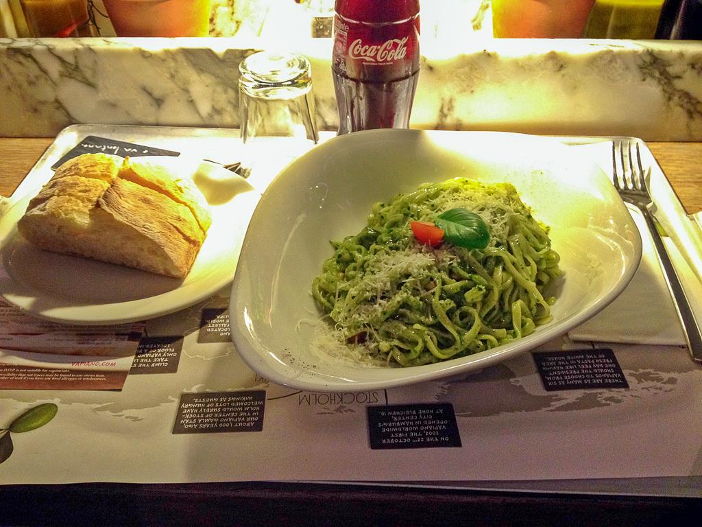 Pasta Pesto Basilico at Vapiano London Bankside
