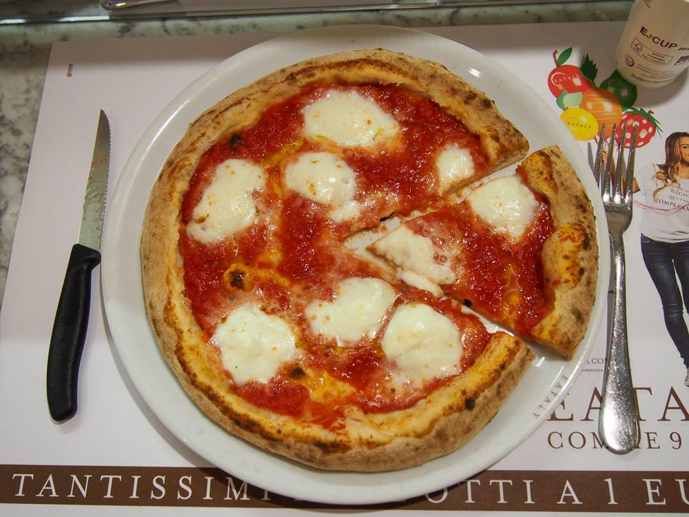 Neapolitan Pizza Margherita at Eataly Milan Smeraldo